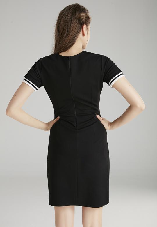 Yaka Bantlı Elbise
