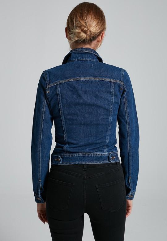 Düğmeli Jean Ceket