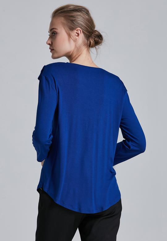 Yakası Fırfırlı Bluz