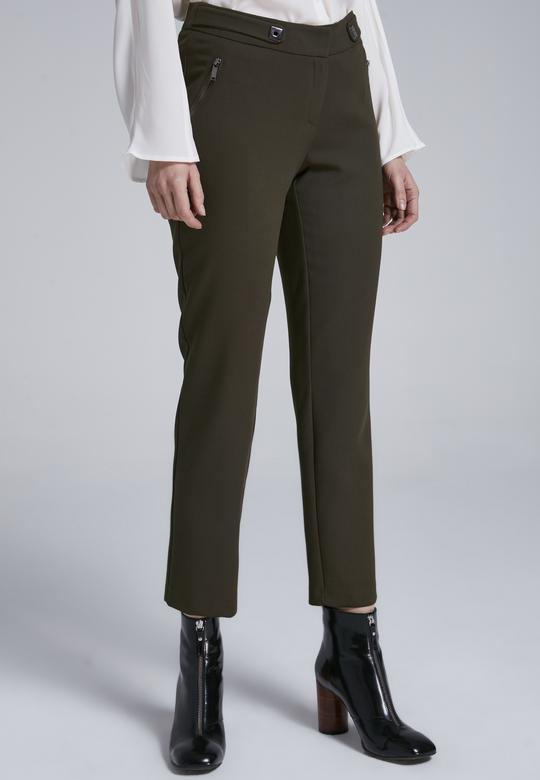 Fermuarlı Pantolon