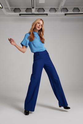 Deri Biyeli Pantolon