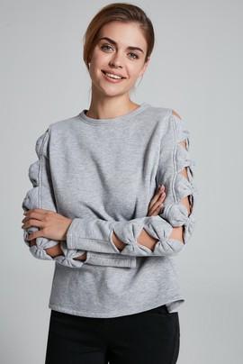 Kolları Fiyonklu Sweatshirt