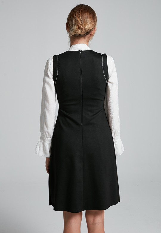 Teğel Dikişli Elbise
