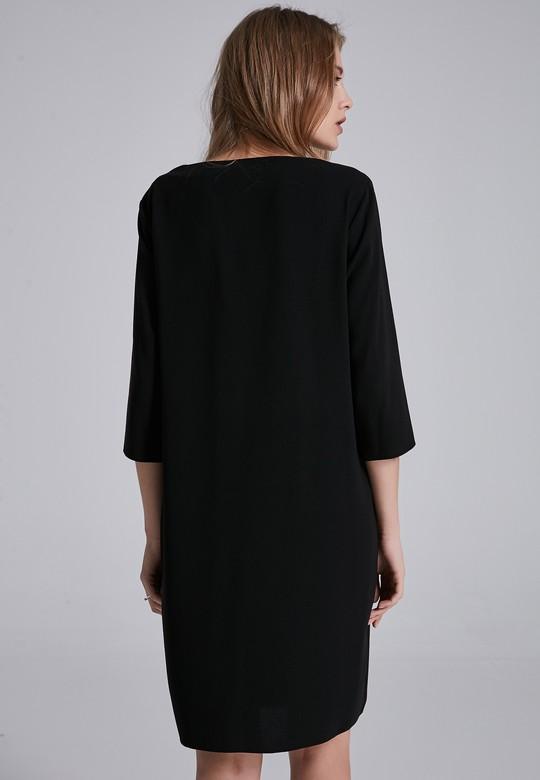 Önü Fermuarlı Elbise