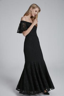Kolu Volanlı Elbise