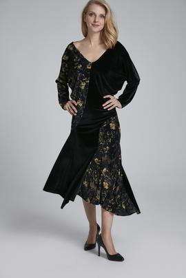 Yarasa Kollu Elbise