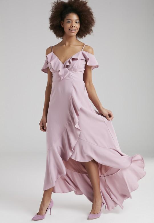 Volanlı Askılı Elbise