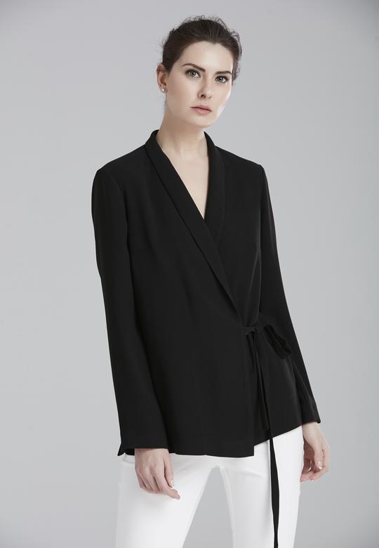 Önden Bağlamalı Ceket