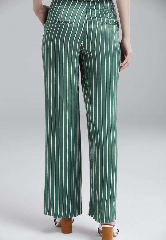 Çizgili Bol Pantolon