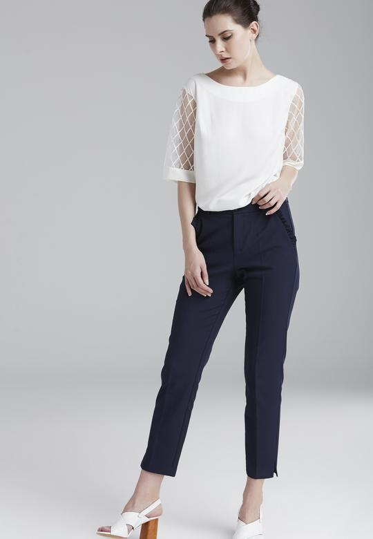 Cepleri Volanlı Pantolon