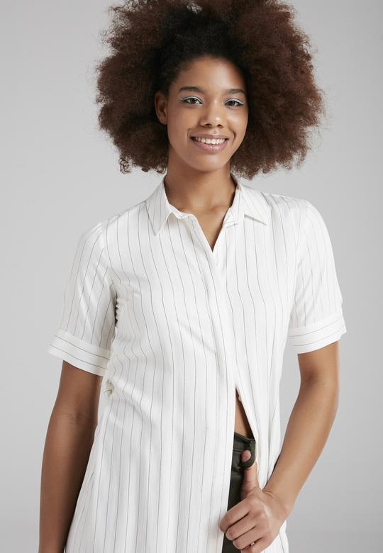 Baskılı Gömlek Elbise