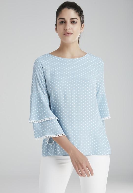 Kolu Fırfırlı Bluz