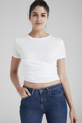 Kısa Kol Bağlamalı Tişört