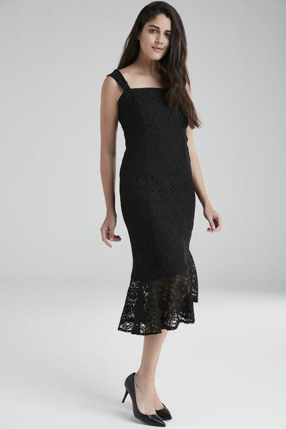 Askılı Dantel Elbise