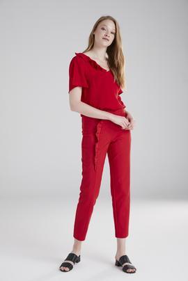 Kemeri Volanlı Pantolon