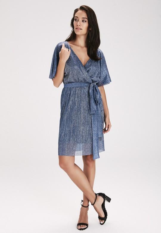 1f694f64768 Lacivert Belden Bağlamalı Elbise | Love My Body