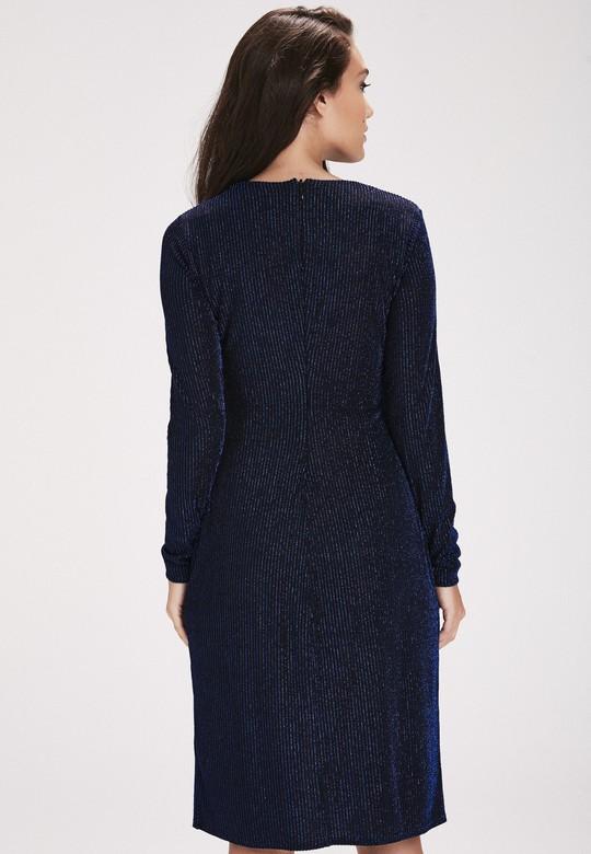 Yırtmaçlı Jarse Elbise