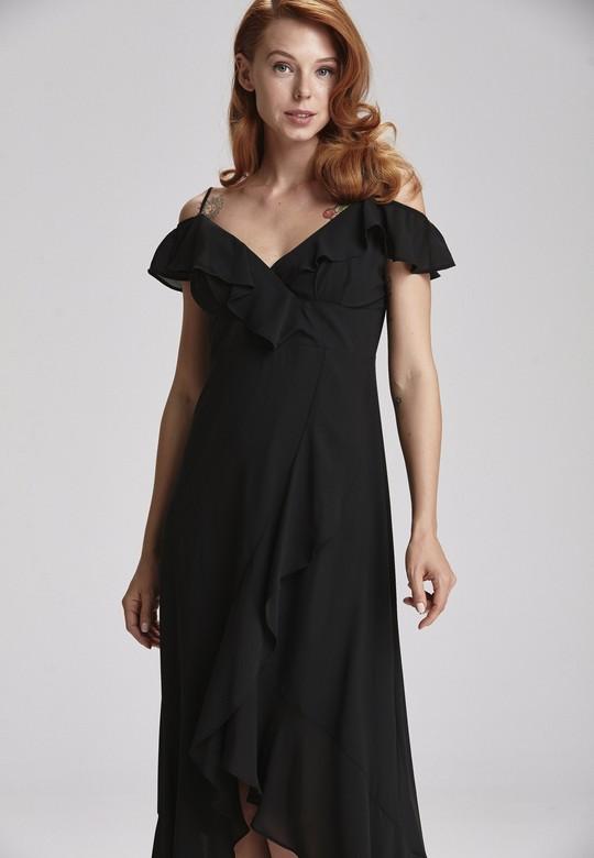 Eteği Volanlı Elbise