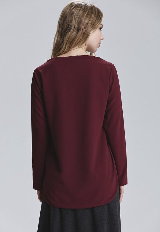 Yuvarlak Yakalı Bluz