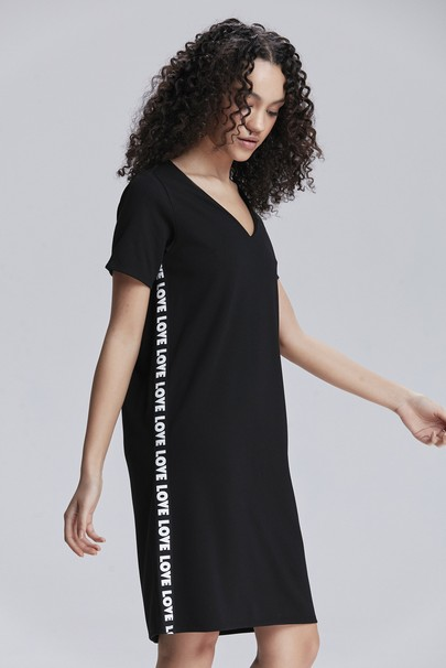 Yanı Şeritli Elbise