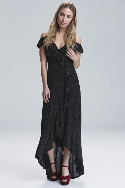 Etegi Volanlı Elbise