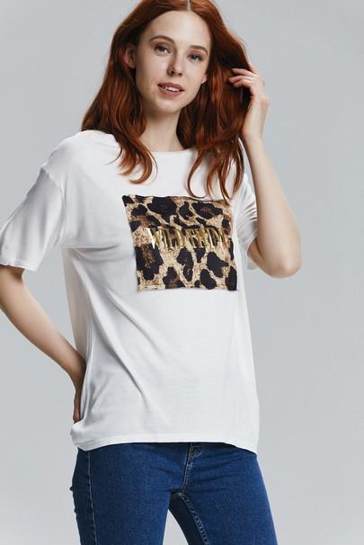 Leopar Baskılı Tişört