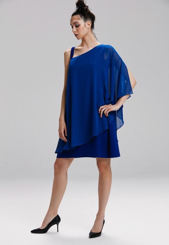 Asimetrik Şifon Elbise