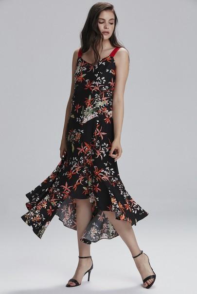 Askılı Asimetrik Elbise