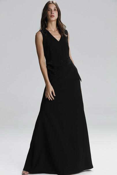 Kolsuz Uzun Taşlı Elbise