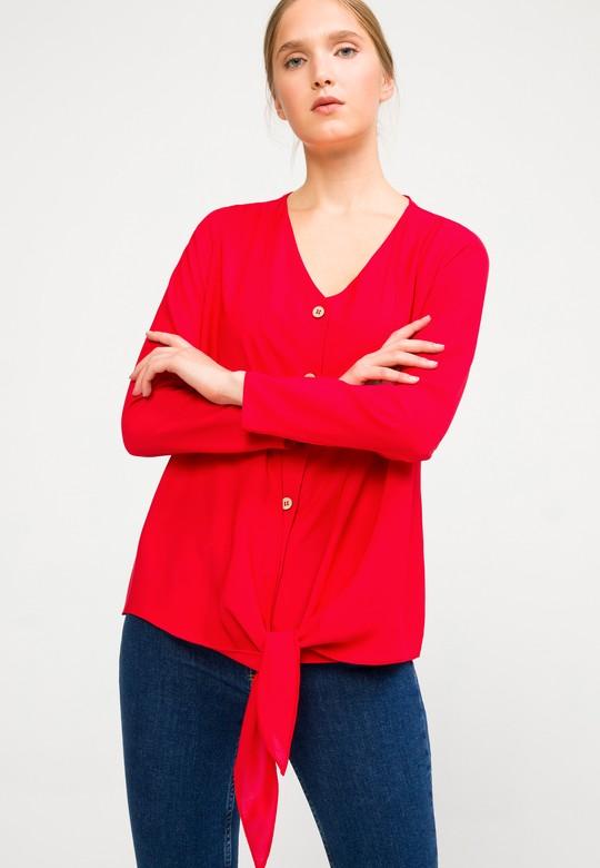 Bağlama Detaylı Bluz