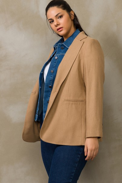 Denim Detaylı Ceket