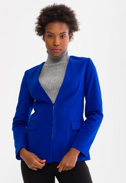 Agraflı Yakasız Ceket