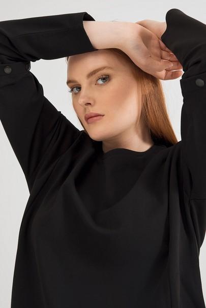 Kolları Çıtçıt Detaylı Sweatshirt