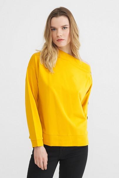 Omuzu Açık Sweatshirt