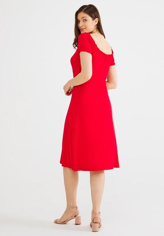 Bağlamalı Lastikli Elbise