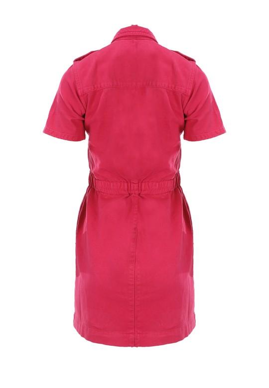 Önden Düğmeli Apoletli Elbise