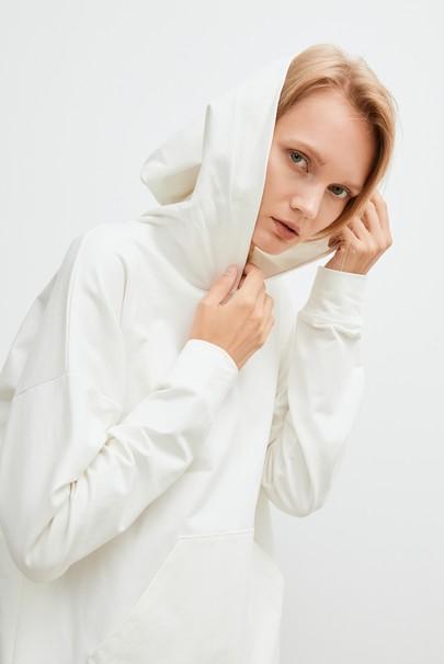 Sırtı File Detaylı Sweatshirt