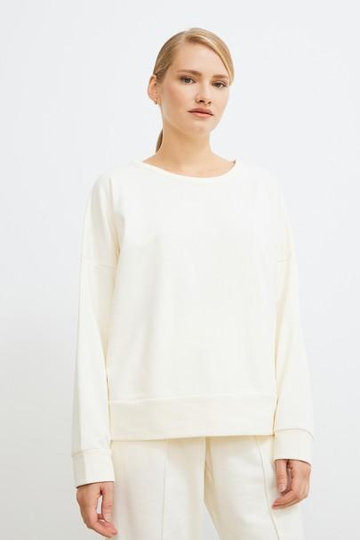 Sırtı Kruvaze Kapamalı Sweatshirt