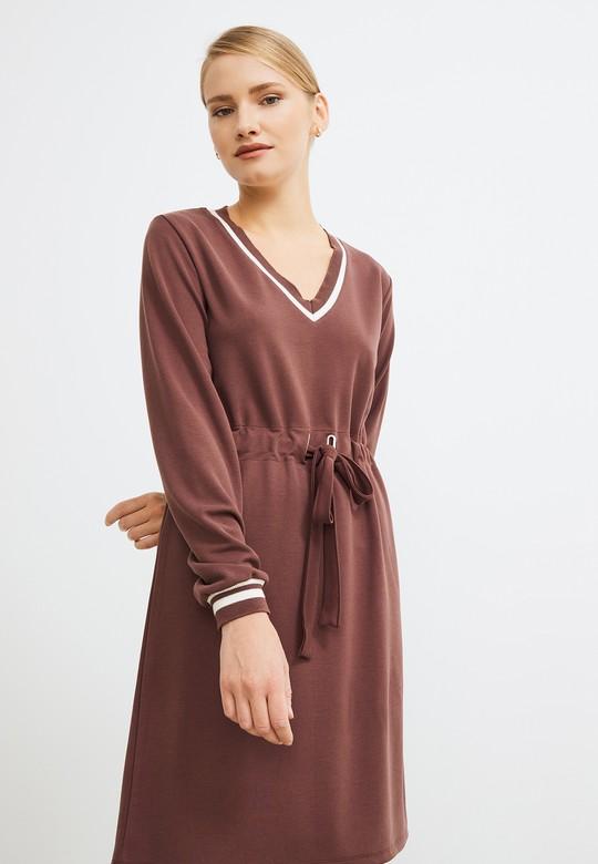 Ribanalı Örme Elbise
