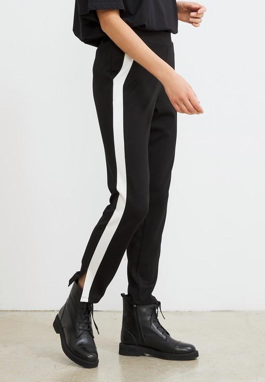 Kontrast Renkli Örme Pantolon