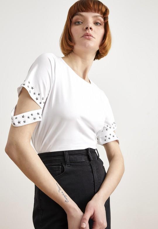 Kolları Troplu Tişört