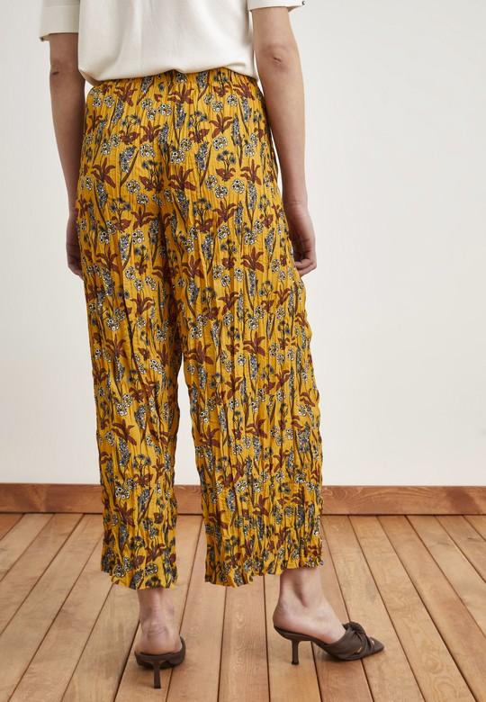 Yandan Cepli Piliseli Pantolon