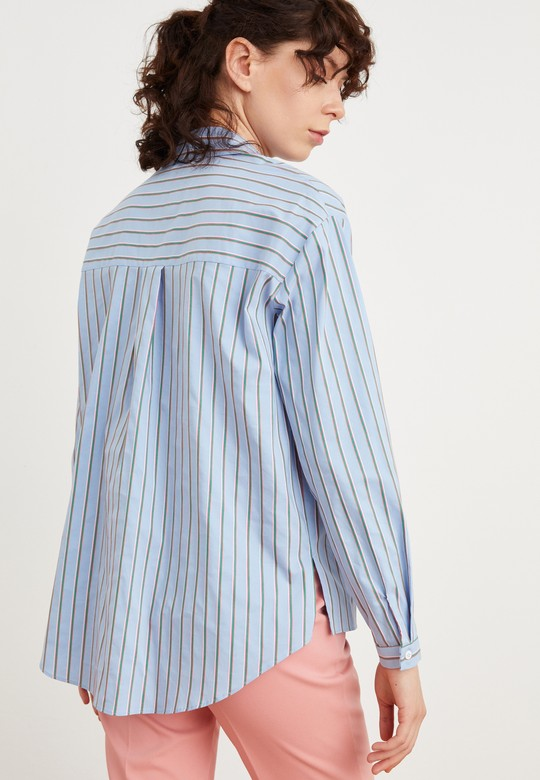 Çizgili Erkek Yaka Gömlek