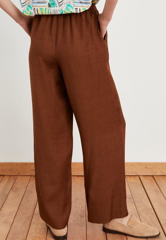 Beli Bağlamalı Cepli Pantolon