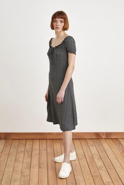 Bağlamalı Lastikli Örme Elbise