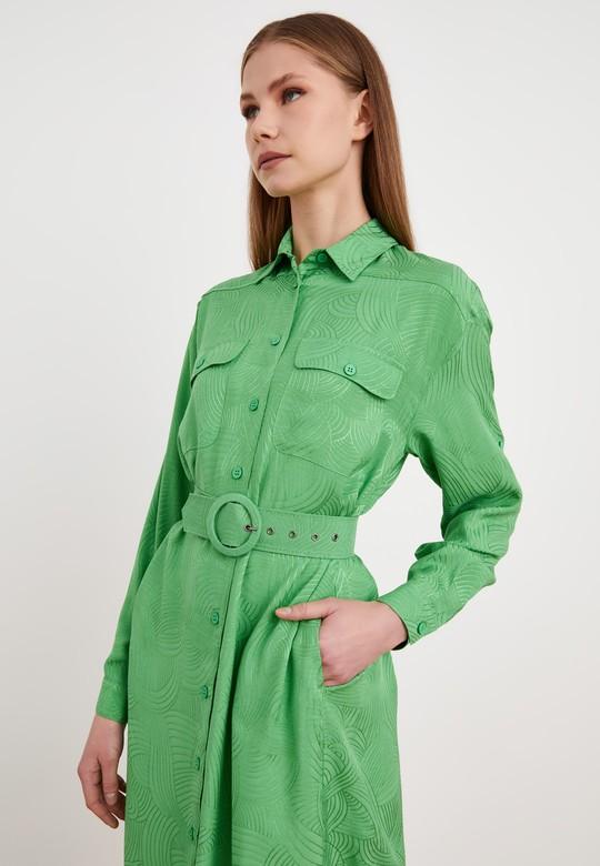 Uzun Kol Jakar Gömlek Elbise