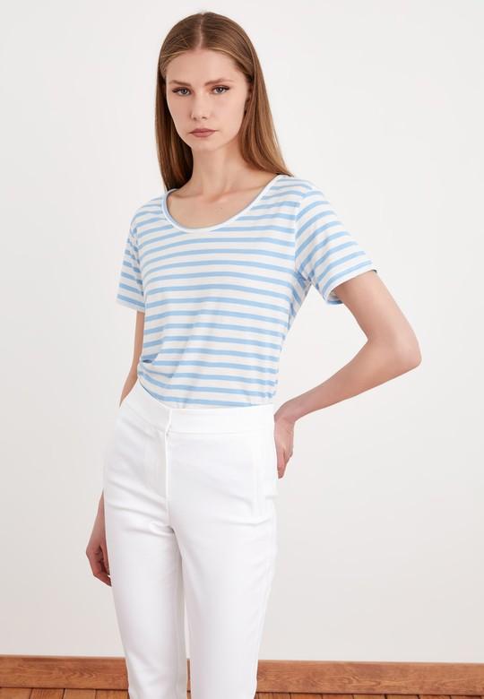 Çizgili Kısa Kollu Tişört