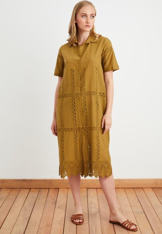 Dantelli Gömlek Elbise
