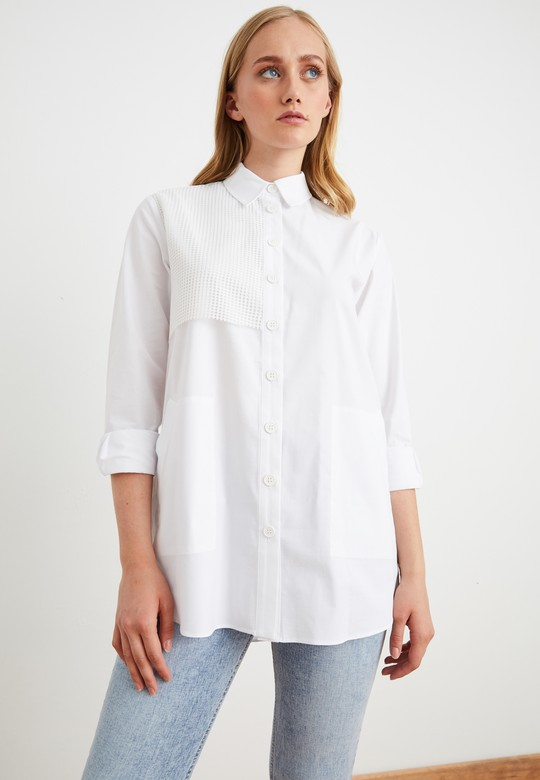 File Detaylı Gömlek