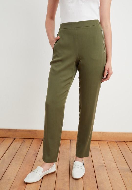 Metal Fermuarlı Pantolon